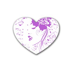 Purple Woman Of Chronic Pain Drink Coasters 4 Pack (heart)