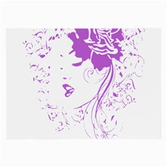 Purple Woman Of Chronic Pain Glasses Cloth (large, Two Sided)
