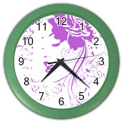 Purple Woman of Chronic Pain Wall Clock (Color)