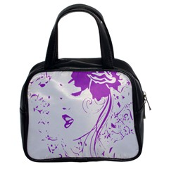 Purple Woman of Chronic Pain Classic Handbag (Two Sides)