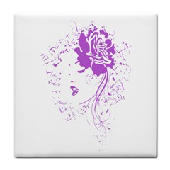 Purple Woman Of Chronic Pain Face Towel