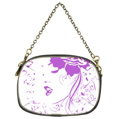 Purple Woman Of Chronic Pain Chain Purse (two Sided)