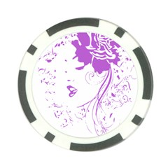 Purple Woman of Chronic Pain Poker Chip (10 Pack)