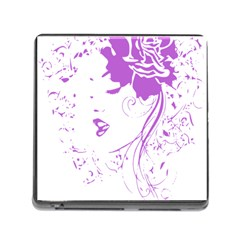 Purple Woman Of Chronic Pain Memory Card Reader With Storage (square)