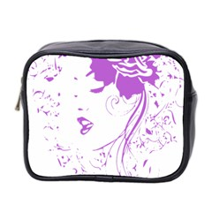 Purple Woman of Chronic Pain Mini Travel Toiletry Bag (Two Sides)