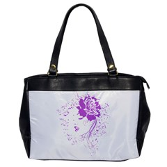 Purple Woman of Chronic Pain Oversize Office Handbag (One Side)