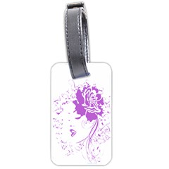 Purple Woman Of Chronic Pain Luggage Tag (one Side)