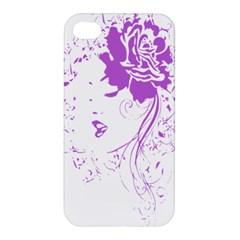 Purple Woman of Chronic Pain Apple iPhone 4/4S Premium Hardshell Case