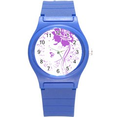 Purple Woman of Chronic Pain Plastic Sport Watch (Small)