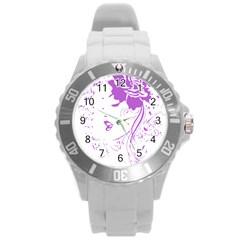 Purple Woman of Chronic Pain Plastic Sport Watch (Large)