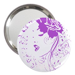 Purple Woman Of Chronic Pain 3  Handbag Mirror