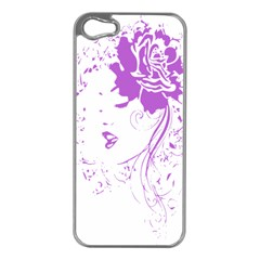 Purple Woman of Chronic Pain Apple iPhone 5 Case (Silver)