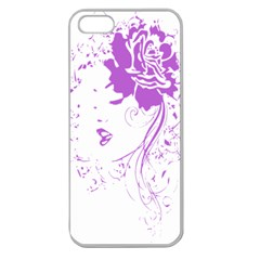 Purple Woman Of Chronic Pain Apple Seamless Iphone 5 Case (clear)