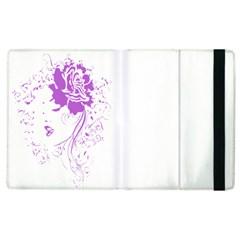 Purple Woman of Chronic Pain Apple iPad 3/4 Flip Case