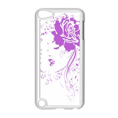 Purple Woman Of Chronic Pain Apple Ipod Touch 5 Case (white)