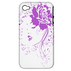 Purple Woman of Chronic Pain Apple iPhone 4/4S Hardshell Case (PC+Silicone)
