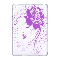 Purple Woman Of Chronic Pain Apple Ipad Mini Hardshell Case (compatible With Smart Cover)