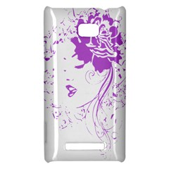 Purple Woman of Chronic Pain HTC 8X Hardshell Case