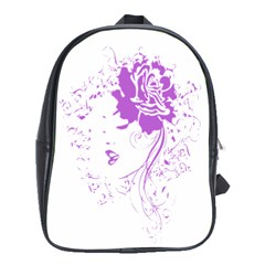 Purple Woman Of Chronic Pain School Bag (xl)