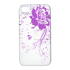Purple Woman Of Chronic Pain Apple Iphone 4/4s Hardshell Case With Stand