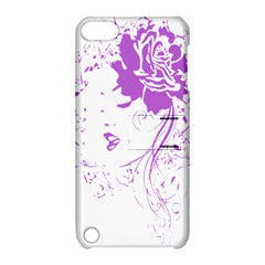 Purple Woman of Chronic Pain Apple iPod Touch 5 Hardshell Case with Stand