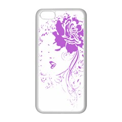 Purple Woman of Chronic Pain Apple iPhone 5C Seamless Case (White)