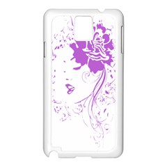 Purple Woman of Chronic Pain Samsung Galaxy Note 3 N9005 Case (White)
