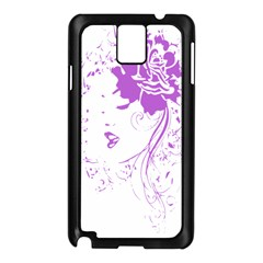 Purple Woman of Chronic Pain Samsung Galaxy Note 3 N9005 Case (Black)