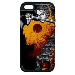 Samurai Rise Apple Iphone 5 Hardshell Case (pc+silicone)