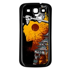 Samurai Rise Samsung Galaxy S3 Back Case (Black)