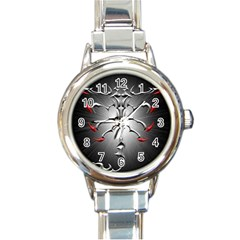Scorpion Round Italian Charm Watch