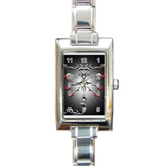 Scorpion Rectangular Italian Charm Watch