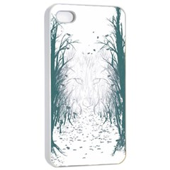 The Woods Beckon  Apple iPhone 4/4s Seamless Case (White)