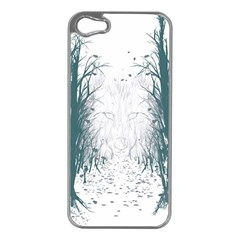 the Woods Beckon  Apple Iphone 5 Case (silver)