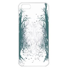 the Woods Beckon  Apple Iphone 5 Seamless Case (white)