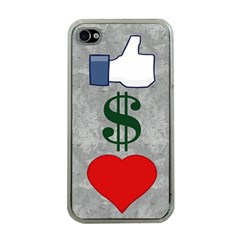 Likes Money Love Apple Iphone 4 Case (clear)