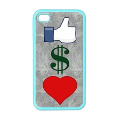 LIKES MONEY LOVE Apple iPhone 4 Case (Color)