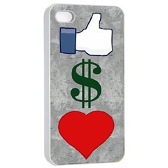 Likes Money Love Apple Iphone 4/4s Seamless Case (white)
