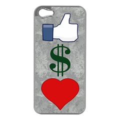 Likes Money Love Apple Iphone 5 Case (silver)
