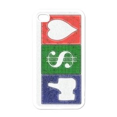 Likes Money Love Apple Iphone 4 Case (white)