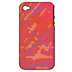 Redish Apple Iphone 4/4s Hardshell Case (pc+silicone)