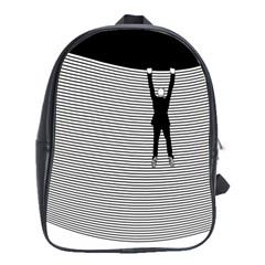 """""""Hang On! Hang On!"""" School Bag (Large)"""