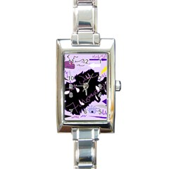 Life With Fibromyalgia Rectangular Italian Charm Watch