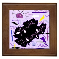 Life With Fibromyalgia Framed Ceramic Tile