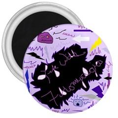 Life With Fibromyalgia 3  Button Magnet