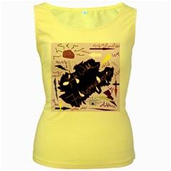 Life With Fibromyalgia Women s Tank Top (Yellow)