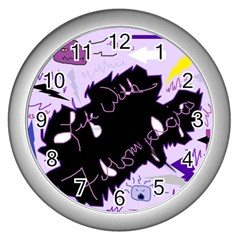 Life With Fibromyalgia Wall Clock (silver)