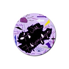 Life With Fibromyalgia Drink Coasters 4 Pack (Round)