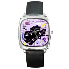 Life With Fibromyalgia Square Leather Watch