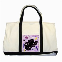 Life With Fibromyalgia Two Toned Tote Bag
